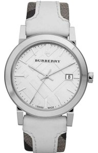 Burberry Large Check Leather Fabric Women's Bu9019 Watch