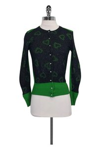 Marc by Marc Jacobs Green Heart Cardigan