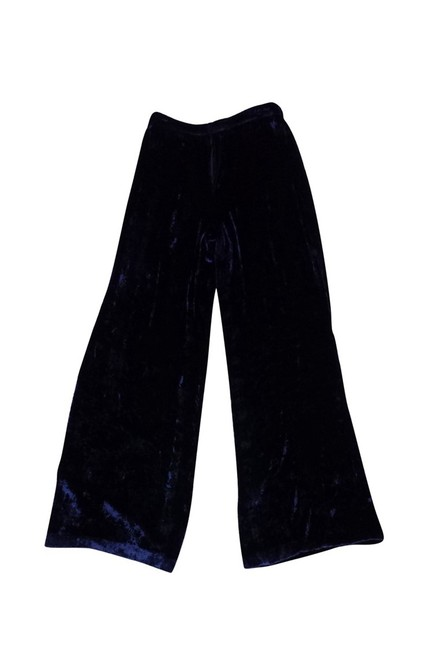 Ralph Lauren Purple Velvet Straight Pants blue