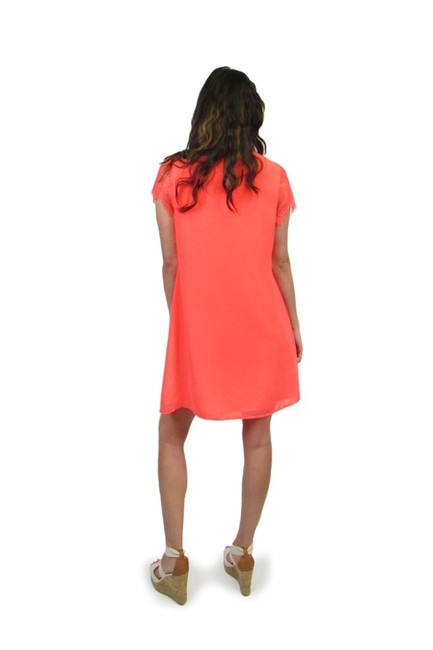 Sugarlips short dress Neon And On Coral Lace Sleeve on Tradesy