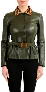 Gucci Green Leather Jacket