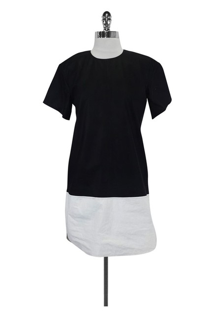 Alexander Wang short dress Black White Leather on Tradesy