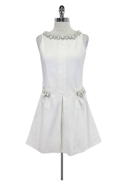 Moschino short dress White W/ Large Buttons on Tradesy
