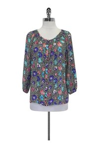 Yumi Kim Floral Printed Top Black