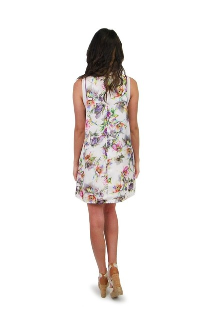 Ark & Co. short dress white Wanderlust Watercolor Floral on Tradesy