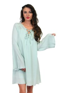 Sugarlips short dress green Said And Mint Long Sleeve Shift on Tradesy