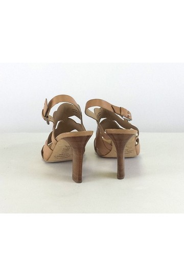 Via Spiga W/ Wood Heel Tan Pumps