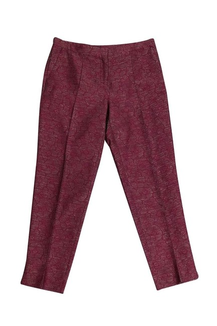 Worth New York Mauve Floral Straight Pants Pink