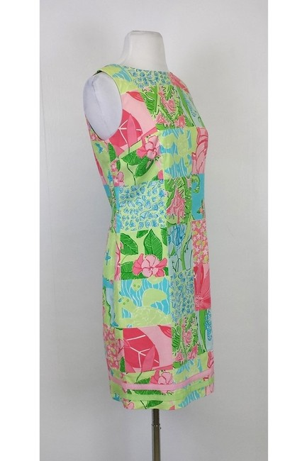 Lilly Pulitzer short dress Cotton Multipattern Patchwork on Tradesy