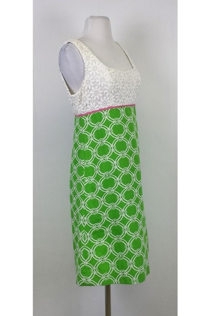 Lilly Pulitzer short dress Green/Pink/White Lace on Tradesy
