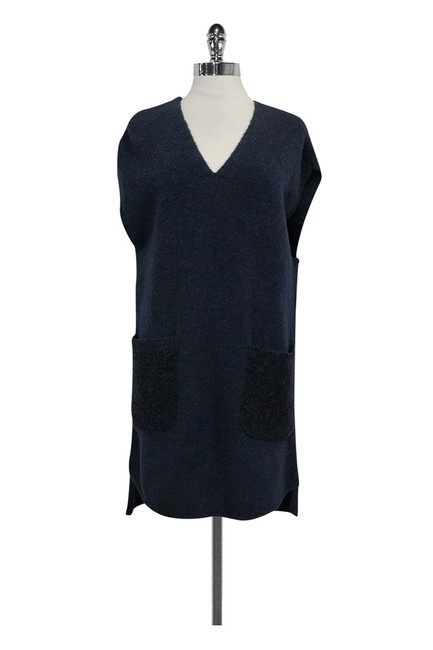 3.1 Phillip Lim short dress Navy Wool Blend on Tradesy