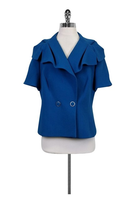 Escada Capelet Blue Jacket