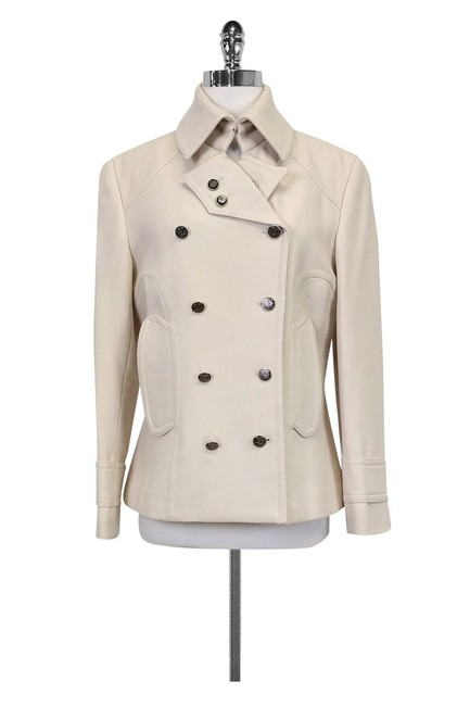 Preload https://item3.tradesy.com/images/dolce-and-gabbana-cream-pea-coat-size-8-m-23174332-0-0.jpg?width=400&height=650