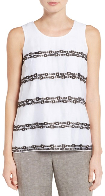 Preload https://item2.tradesy.com/images/niczoe-white-squared-away-embroidered-tank-topcami-size-16-xl-plus-0x-23174341-0-2.jpg?width=400&height=650