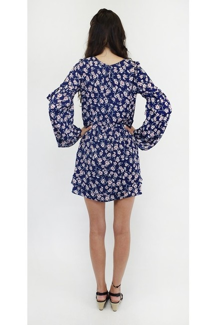 En Crème short dress blue Navy Blossoms on Tradesy