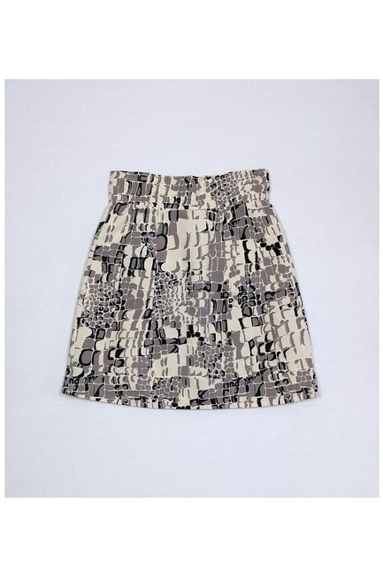 Nanette Lepore Tan Printed Skirt brown