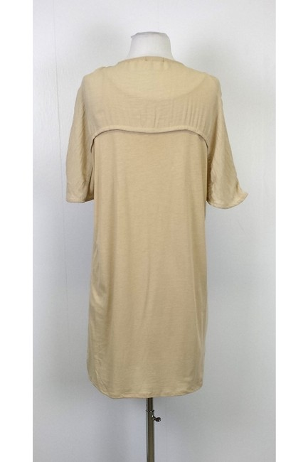 Massimo Dutti Dress W/ Key Hole Front T Shirt Tan