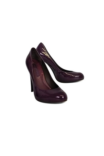 BCBGMAXAZRIA Leather Heels Purple Pumps