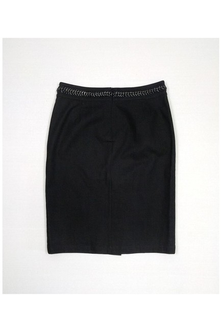 Lafayette 148 New York Denim Skirt Black