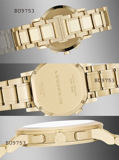Burberry Gold Women's Swiss Chronograph The City Ion-plated Bu9753 Watch