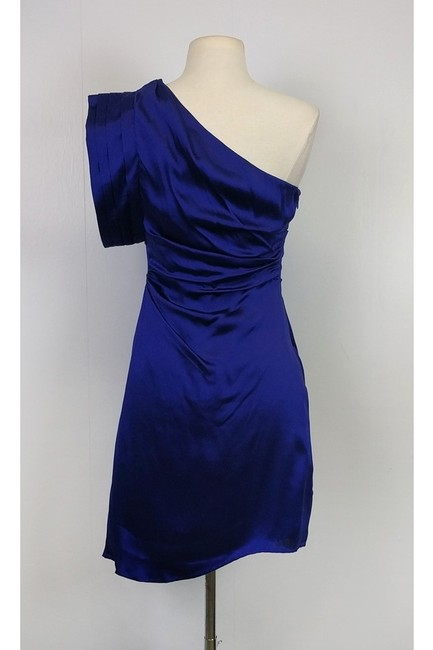 ABS short dress Indigo One Shoulder on Tradesy