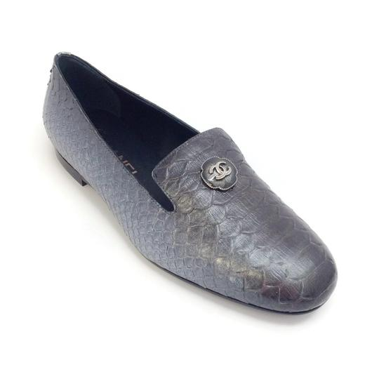 Preload https://item4.tradesy.com/images/chanel-grey-python-loafer-flats-size-eu-365-approx-us-65-regular-m-b-23174538-0-0.jpg?width=440&height=440