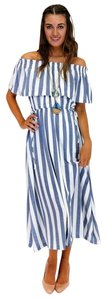 blue Maxi Dress by Ark & Co. Sail Away On Stripes Maxi