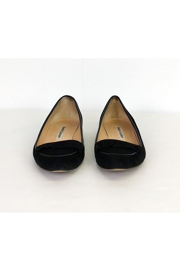 Manolo Blahnik Pointed Black Flats