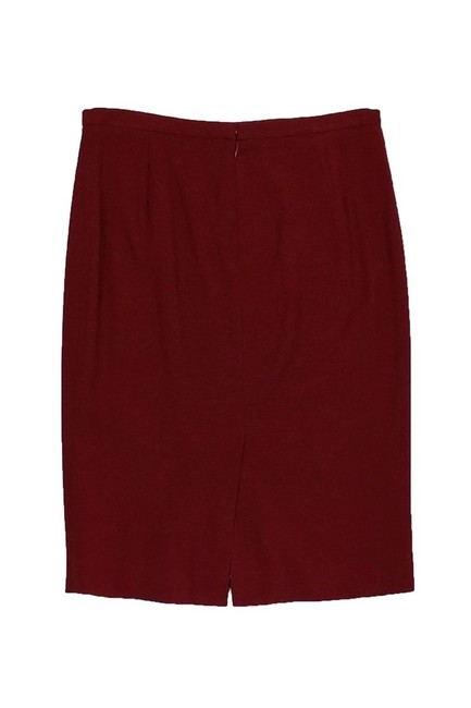 Dolce&Gabbana Wool Burgundy Skirt red