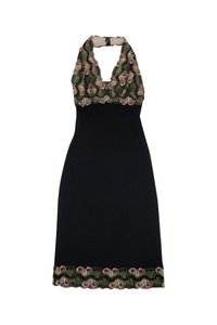 Nicole Miller short dress Black Embroidered on Tradesy