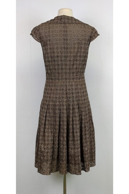 Kay Unger short dress Taupe Eyelet on Tradesy