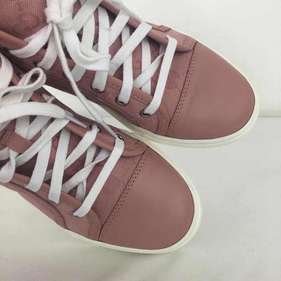 e3fdc5cb437 Gucci Pink 34.5 Women s Rose Signature High Top Sneakers Sneakers ...