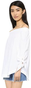 Free People Off The Shoulder Cotton Summer Top White