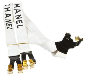 Chanel Chanel White and Black Suspenders