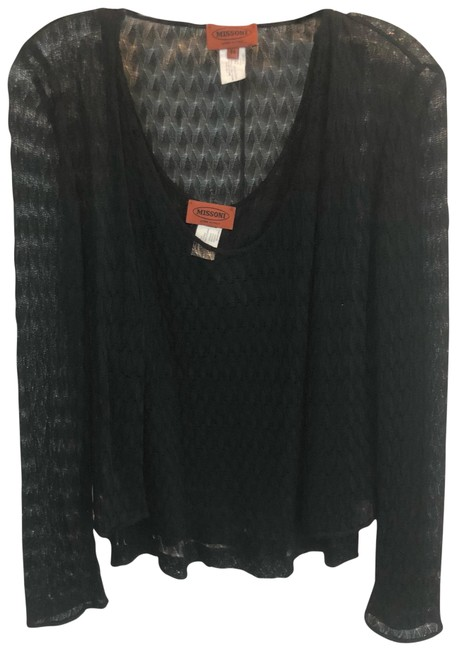 Preload https://item5.tradesy.com/images/missoni-cardigan-44-size-black-sweater-23174769-0-1.jpg?width=400&height=650