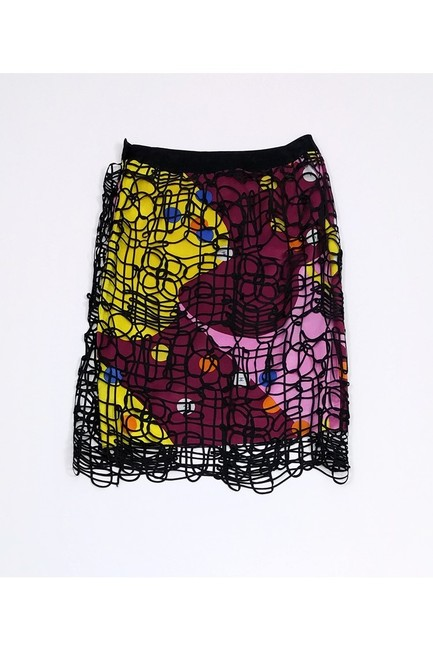 Chanel Multicolor Overlay Skirt