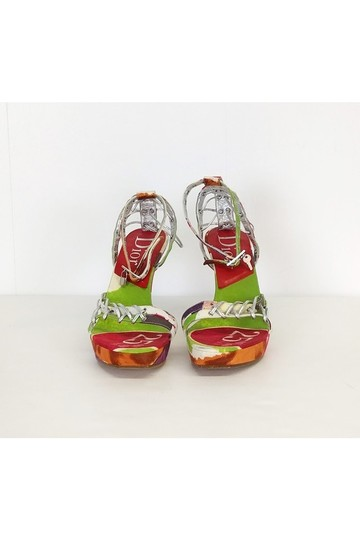 Dior Printed Lace red Wedges