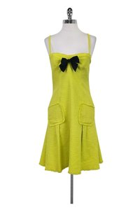 Moschino short dress Green Neon on Tradesy