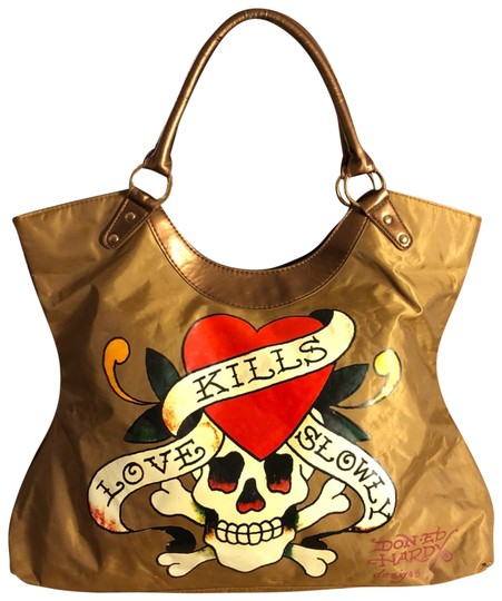 Preload https://img-static.tradesy.com/item/23174824/ed-hardy-xl-ed-shopping-wirh-with-colorful-love-kills-slowly-design-tan-red-white-black-nylonman-mad-0-1-540-540.jpg