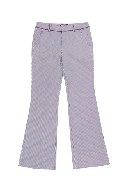 Nanette Lepore Purple Seersucker Straight Pants