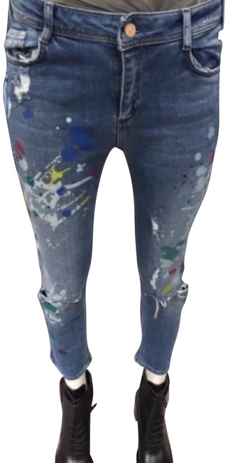 Preload https://item1.tradesy.com/images/zara-blue-distressed-paint-slouchy-skinny-jeans-size-0-xs-25-23174865-0-1.jpg?width=400&height=650