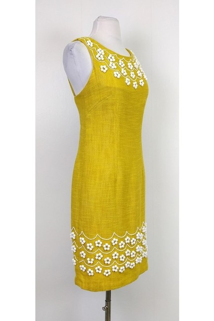 MILLY short dress yellow Beaded on Tradesy