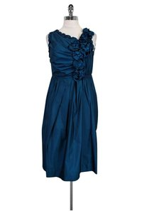 Robert Rodriguez short dress Metallic Blue Ruffled on Tradesy