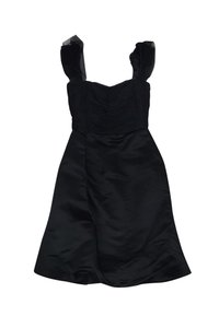 Vera Wang short dress Black W/ Tulle on Tradesy