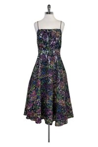 Tracy Reese short dress Purple Floral Flared on Tradesy