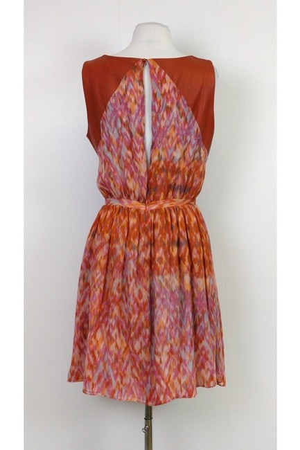 Hunter Dixon short dress Orange Printed on Tradesy