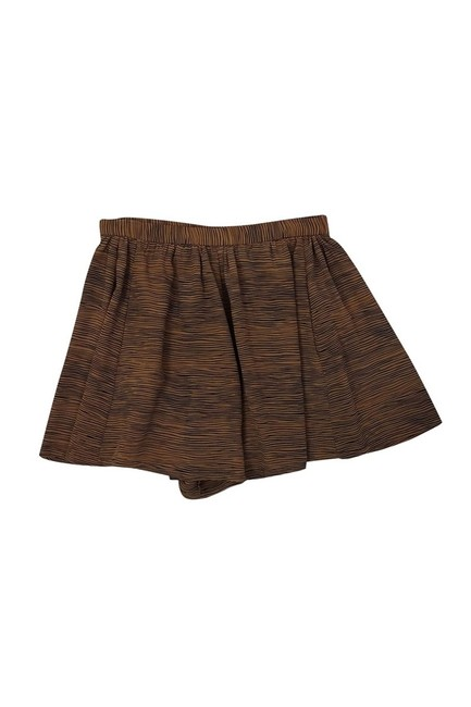 Joie Striped Dress Shorts brown