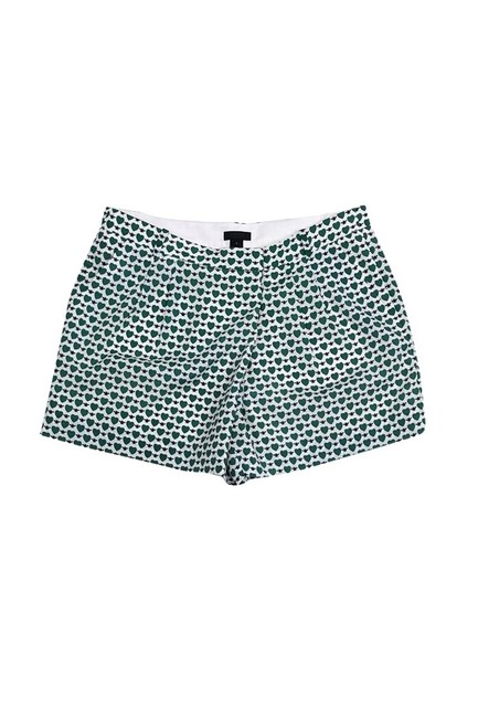 J.Crew Collection Hearts Dress Shorts Green