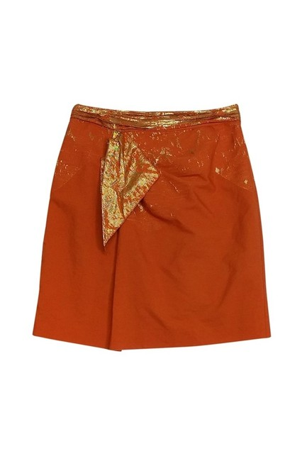 Elie Tahari Gold Skirt Orange