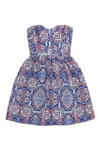 Parker short dress Strapless Paisley on Tradesy